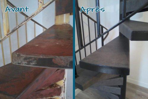 Remodernisation d'un escalier pour un style industriel.
