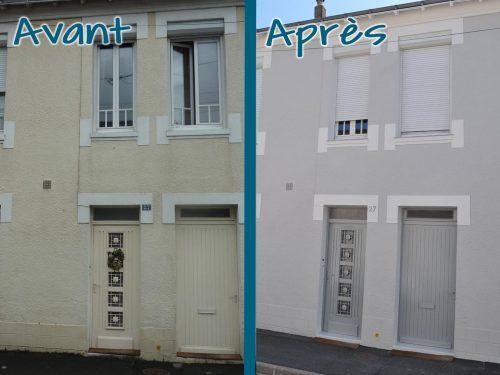 Imperméabilisation d'une façade comprenant une nouvelle pose de peinture pour l'ensemble et pose d'appui de fenêtre en Zinc